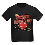 Suzanne Lassoed My Heart Kids Dark T-Shirt