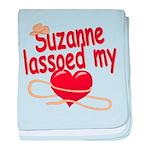 Suzanne Lassoed My Heart baby blanket