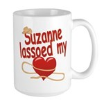 Suzanne Lassoed My Heart Large Mug