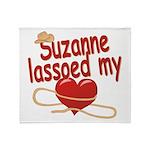 Suzanne Lassoed My Heart Throw Blanket