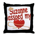Suzanne Lassoed My Heart Throw Pillow