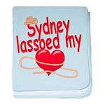 Sydney Lassoed My Heart baby blanket