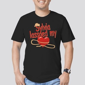 Sylvia Lassoed My Heart Men's Fitted T-Shirt (dark