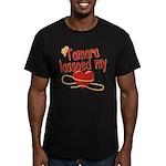 Tamara Lassoed My Heart Men's Fitted T-Shirt (dark