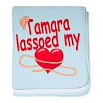 Tamara Lassoed My Heart baby blanket