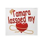 Tamara Lassoed My Heart Throw Blanket