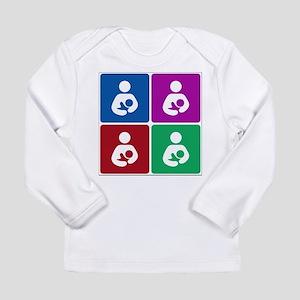 pop breastfeeding icon Long Sleeve T-Shirt