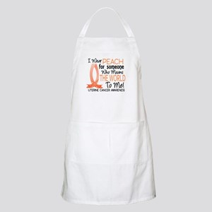 Means World To Me 1 Uterine Cancer Shirts Apron