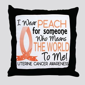 Means World To Me 1 Uterine Cancer Shirts Throw Pi