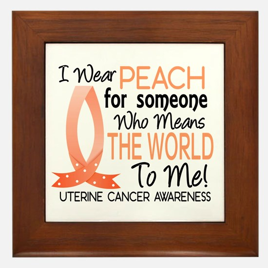 Means World To Me 1 Uterine Cancer Shirts Framed T