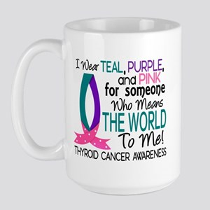 Means World To Me 1 Thyroid Cancer Shirts Large Mu