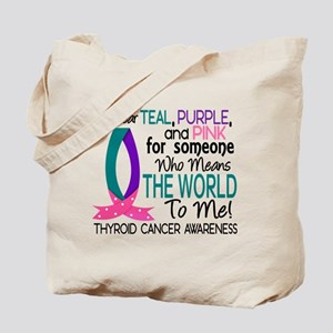 Means World To Me 1 Thyroid Cancer Shirts Tote Bag