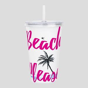 Beach Please Acrylic Double-wall Tumbler