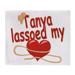 Tanya Lassoed My Heart Throw Blanket