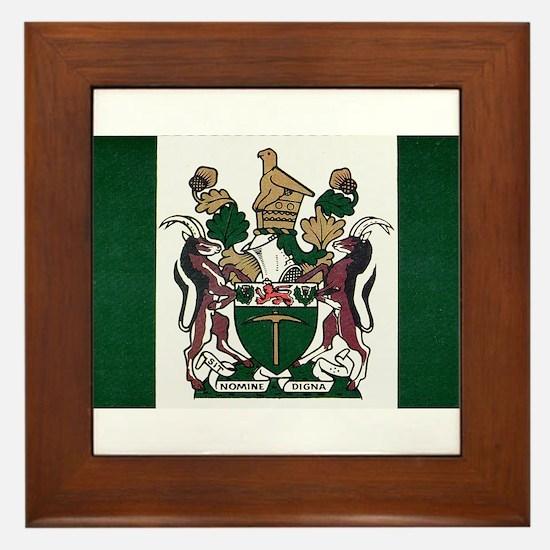 Rhodesia Flag Framed Tile