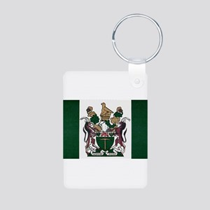 Rhodesia Flag Aluminum Photo Keychain