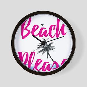 Beach Please Wall Clock