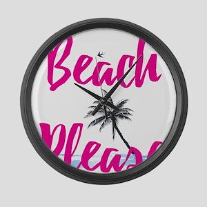 Beach Please Large Wall Clock