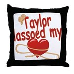 Taylor Lassoed My Heart Throw Pillow