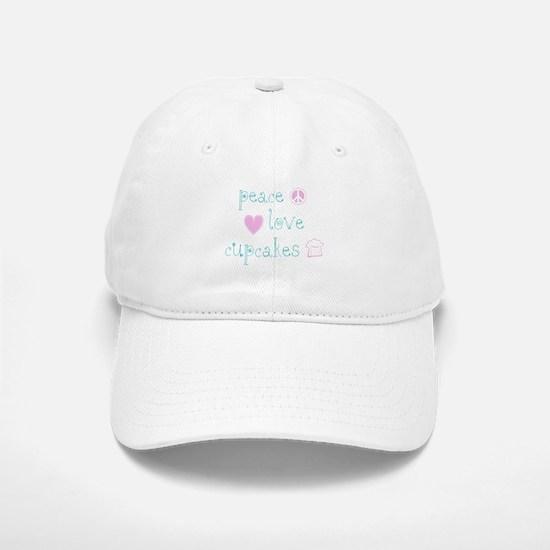 Peace, Love and Cupcakes Baseball Baseball Cap