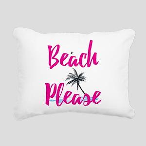 Beach Please Rectangular Canvas Pillow