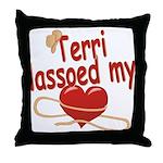 Terri Lassoed My Heart Throw Pillow