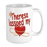 Theresa Lassoed My Heart Large Mug