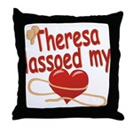 Theresa Lassoed My Heart Throw Pillow