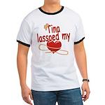 Tina Lassoed My Heart Ringer T