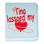 Tina Lassoed My Heart baby blanket