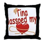 Tina Lassoed My Heart Throw Pillow