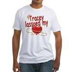 Tracey Lassoed My Heart Fitted T-Shirt