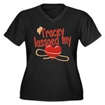 Tracey Lassoed My Heart Women's Plus Size V-Neck D