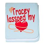 Tracey Lassoed My Heart baby blanket