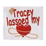 Tracey Lassoed My Heart Throw Blanket