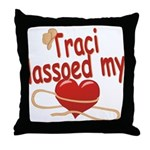 Traci Lassoed My Heart Throw Pillow