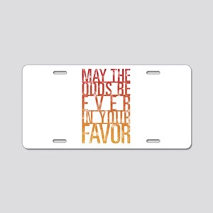 May The Odds Aluminum License Plate