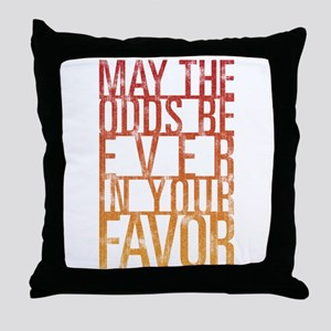 May The Odds Throw Pillow