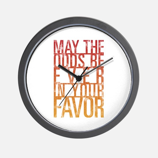 May The Odds Wall Clock
