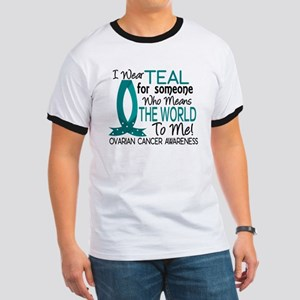 Means World To Me 1 Ovarian Cancer Shirts Ringer T