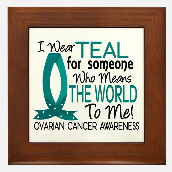 Means World To Me 1 Ovarian Cancer Shirts Framed T