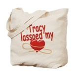 Tracy Lassoed My Heart Tote Bag
