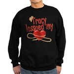 Tracy Lassoed My Heart Sweatshirt (dark)