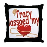 Tracy Lassoed My Heart Throw Pillow