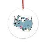 Cute Rhino Ornament (Round)