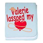 Valerie Lassoed My Heart baby blanket
