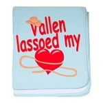 Vallen Lassoed My Heart baby blanket