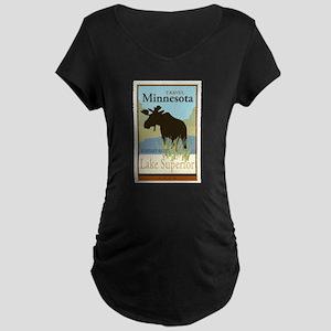 Travel Minnesota Maternity Dark T-Shirt