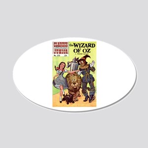 The Wizard of Oz 22x14 Oval Wall Peel
