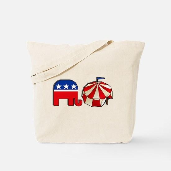Republican Circus Elephant Tote Bag